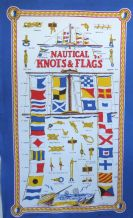 Nautical  Knots and Flags Galley Cloth / Tea Towel